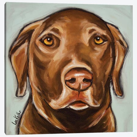 Chocolate Lab Canvas Print #HHS326} by Hippie Hound Studios Canvas Art