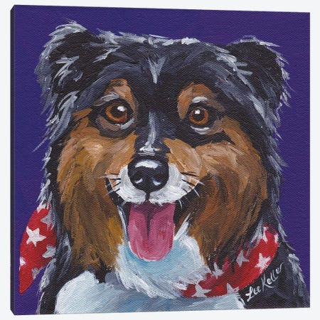 Expressive Sheltie Canvas Print #HHS32} by Hippie Hound Studios Canvas Art Print