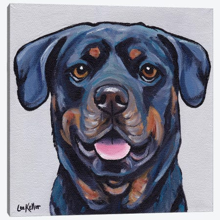Stella The Rottweiller Canvas Print #HHS336} by Hippie Hound Studios Canvas Art Print
