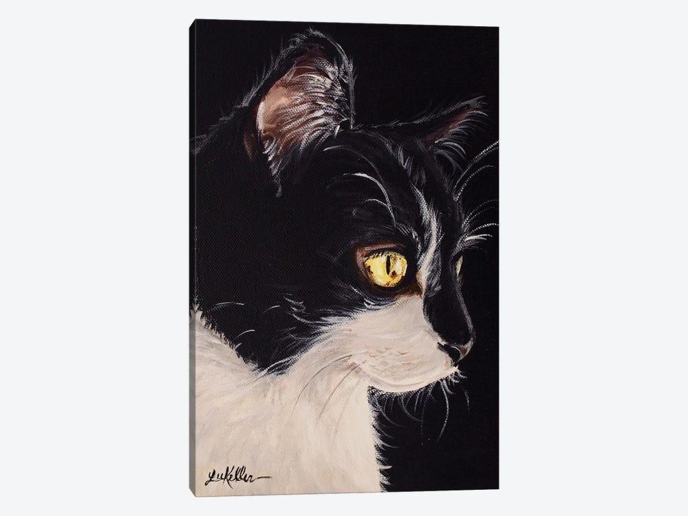 Tuxedo Cat by Hippie Hound Studios 1-piece Canvas Artwork
