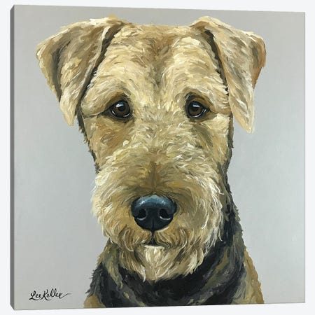 Airedale Terrier Painting Canvas Print #HHS339} by Hippie Hound Studios Canvas Art