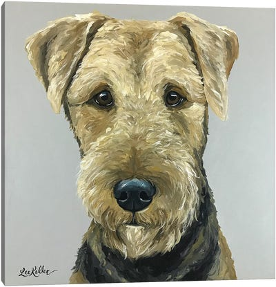 Airedale Terrier Painting Canvas Art Print