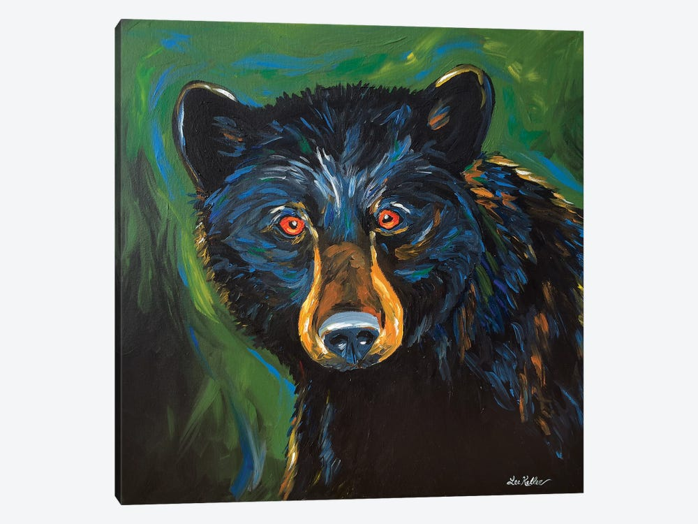 Bear Painting Best by Hippie Hound Studios 1-piece Canvas Wall Art