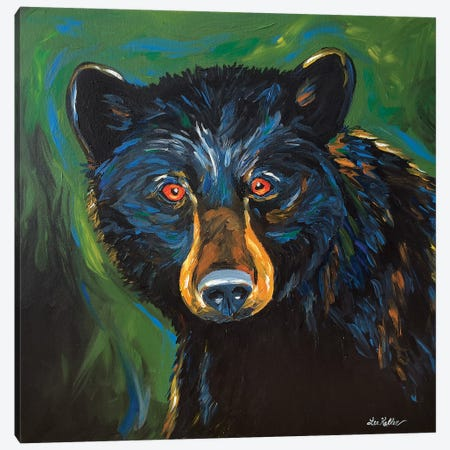 Bear Painting Best 3-Piece Canvas #HHS343} by Hippie Hound Studios Art Print