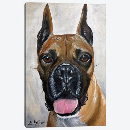 Boxer Canvas Print #HHS356} by Hippie Hound Studios Canvas Art Print