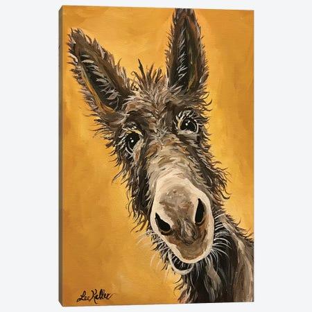 Burro Canvas Print #HHS358} by Hippie Hound Studios Canvas Artwork