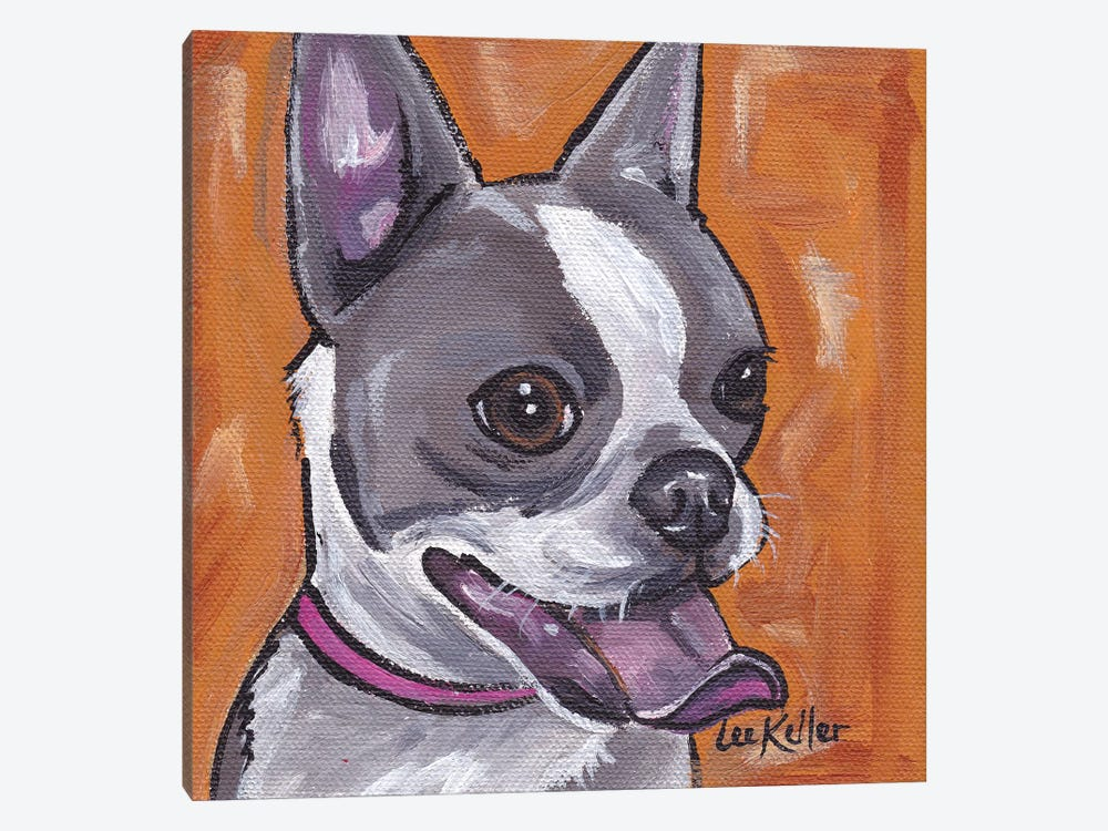 Frenchie (French Bulldog) by Hippie Hound Studios 1-piece Canvas Art