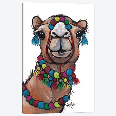 Camel Tassels II Canvas Print #HHS360} by Hippie Hound Studios Art Print