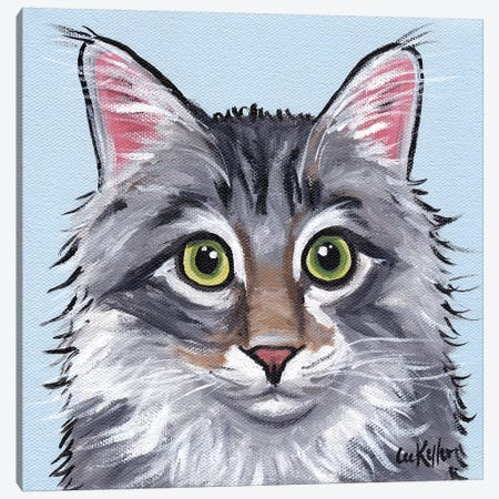 Cat Dash Canvas Print #HHS363} by Hippie Hound Studios Canvas Art Print