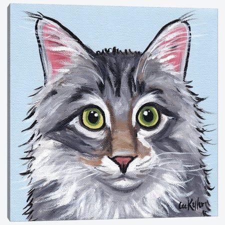 Cat Dash Canvas Print #HHS363} by Hippie Hound Studios Canvas Art Print