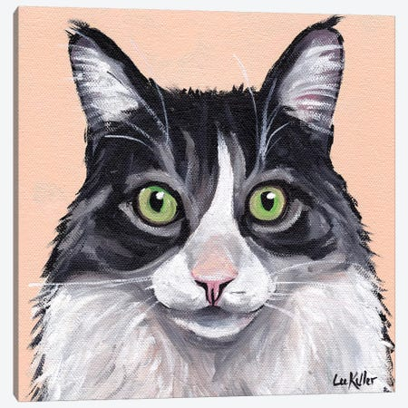 Cat Leo Canvas Print #HHS364} by Hippie Hound Studios Canvas Art