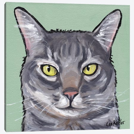 Cat Wiley Canvas Print #HHS367} by Hippie Hound Studios Canvas Wall Art