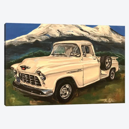 Chevy Truck 3200 I Canvas Print #HHS368} by Hippie Hound Studios Canvas Art Print