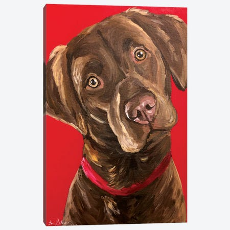 Chocolate Lab Canvas Print #HHS375} by Hippie Hound Studios Canvas Print