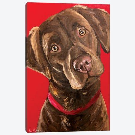 Chocolate Lab Canvas Print #HHS375} by Hippie Hound Studios Canvas Print