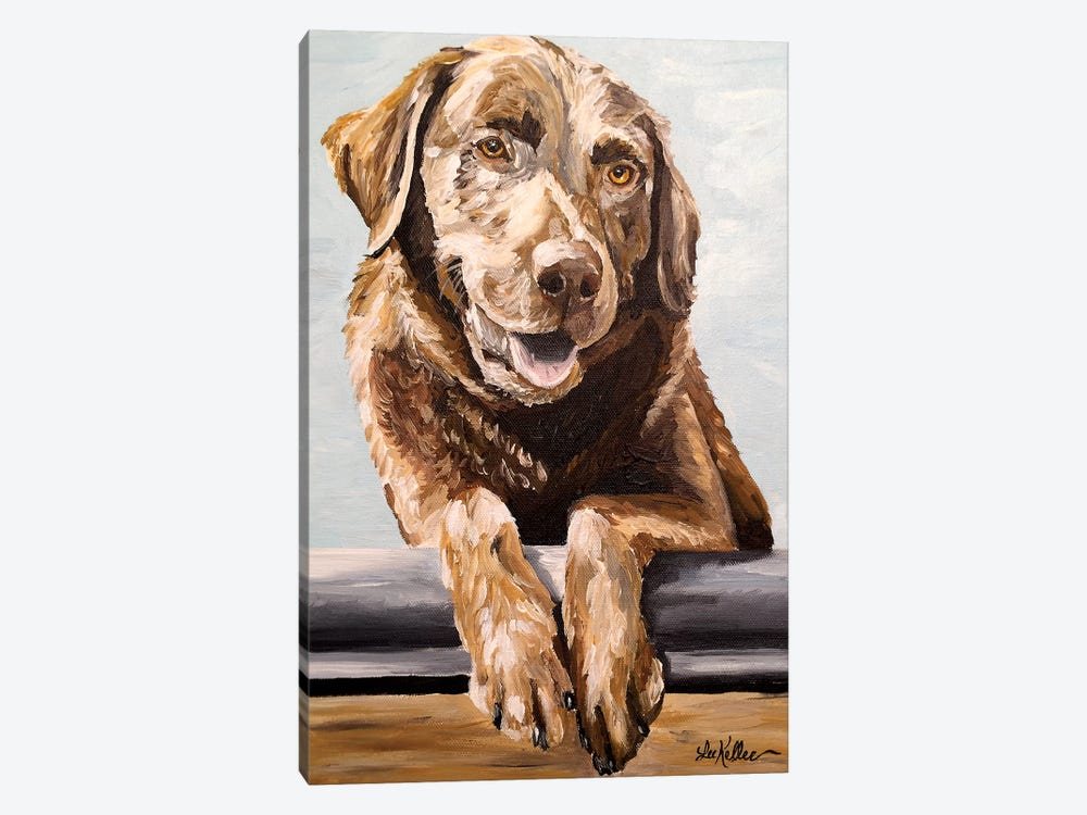 Chocolate Lab Betsy by Hippie Hound Studios 1-piece Canvas Wall Art