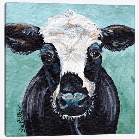 Clyde Cow Painting I Canvas Print #HHS380} by Hippie Hound Studios Canvas Art Print