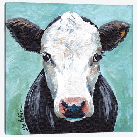 Clyde Cow Painting II Canvas Print #HHS381} by Hippie Hound Studios Canvas Art Print