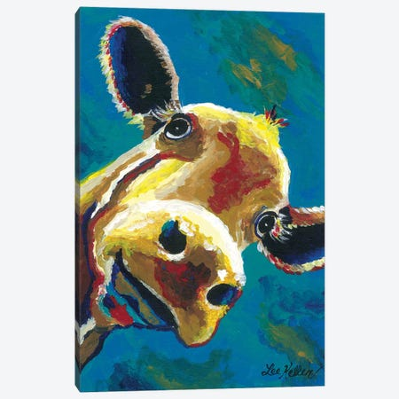 Colorful Cow Gertrude Canvas Print #HHS384} by Hippie Hound Studios Canvas Wall Art