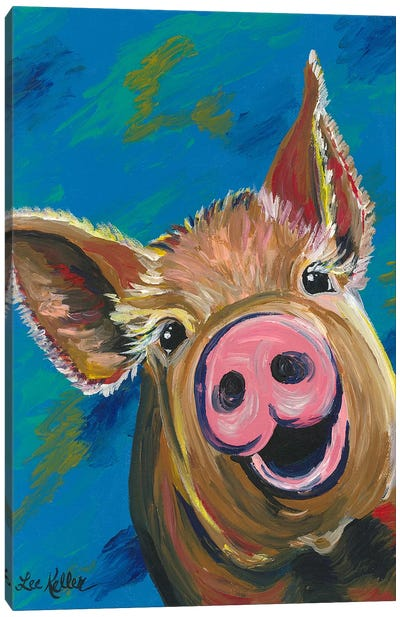 Colorful Pig Painting Canvas Art Print