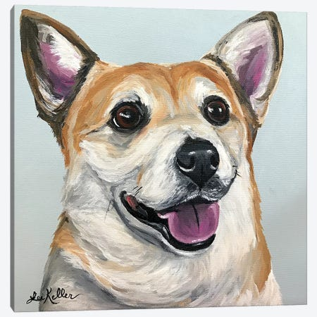 Corgi I Canvas Print #HHS386} by Hippie Hound Studios Canvas Art