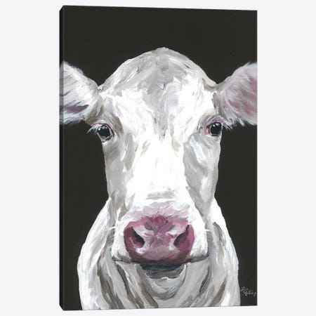 Cow Mabel Canvas Print #HHS387} by Hippie Hound Studios Canvas Wall Art