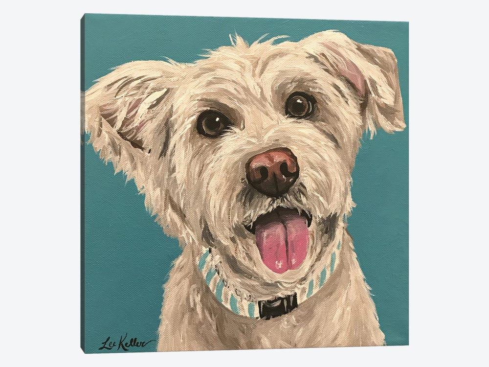 George Wheaten Terrier by Hippie Hound Studios 1-piece Canvas Art Print