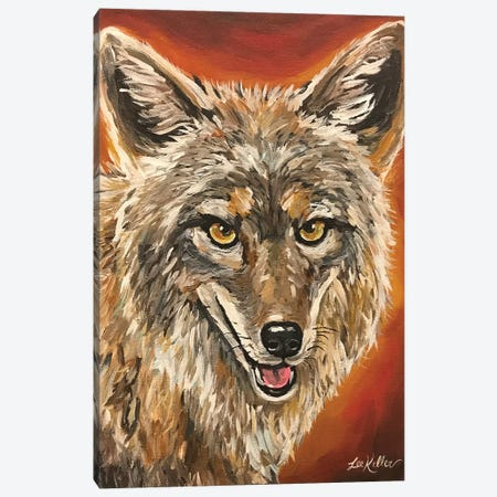 Coyote Painting Canvas Print #HHS395} by Hippie Hound Studios Canvas Print
