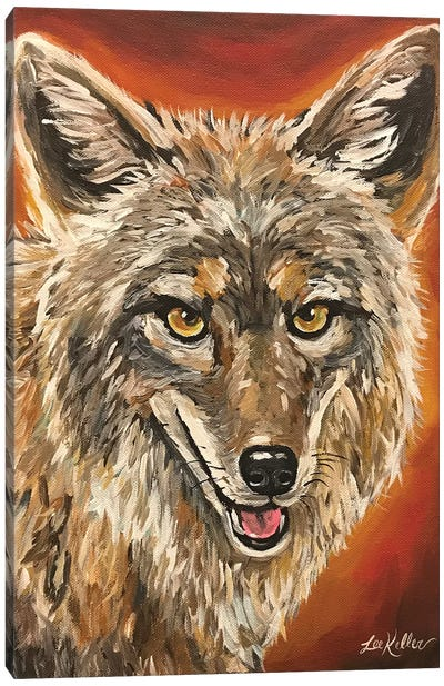 Coyote Painting Canvas Art Print