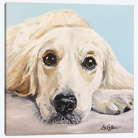 Cream Golden Retriever Canvas Print #HHS396} by Hippie Hound Studios Art Print