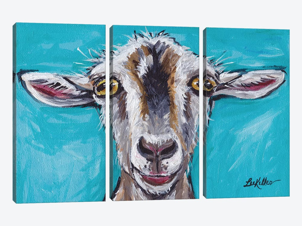 Gizmo The Goat by Hippie Hound Studios 3-piece Canvas Wall Art