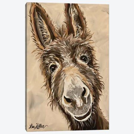 Donkey Canvas Print #HHS400} by Hippie Hound Studios Canvas Art
