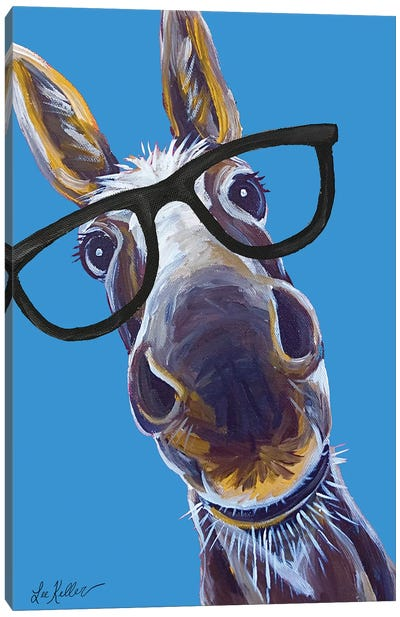 Donkey Snickers Glasses Canvas Art Print