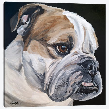 English Bulldog Jess Canvas Print #HHS403} by Hippie Hound Studios Canvas Wall Art