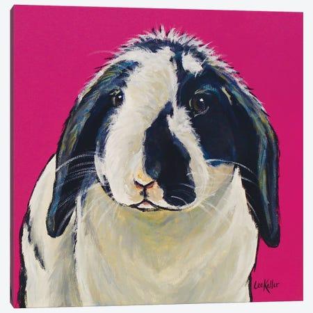 Flop Ear Bunny Susan Canvas Print #HHS405} by Hippie Hound Studios Canvas Art Print