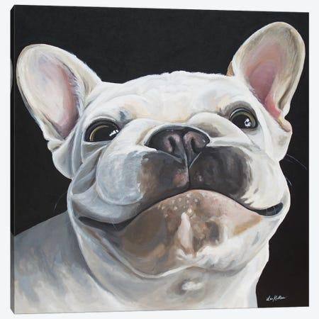 Frenchie 'Bon' Canvas Print #HHS406} by Hippie Hound Studios Art Print
