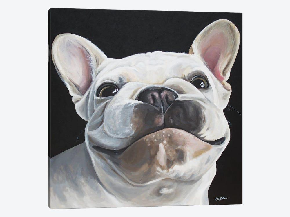 Frenchie 'Bon' by Hippie Hound Studios 1-piece Canvas Artwork