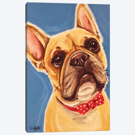 Frenchie Henry Canvas Print #HHS407} by Hippie Hound Studios Art Print