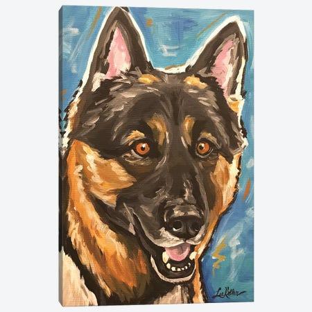 German Shepherd Canvas Print #HHS409} by Hippie Hound Studios Canvas Artwork