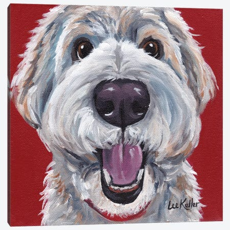 Golden Doodle Canvas Print #HHS40} by Hippie Hound Studios Canvas Art