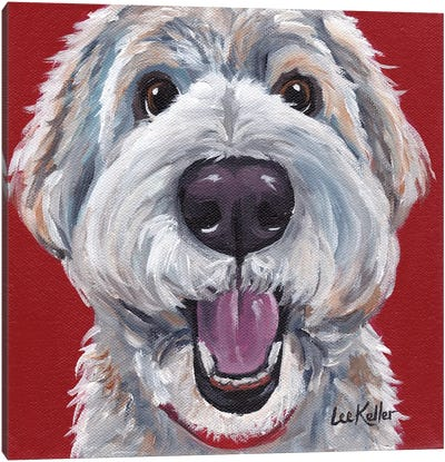 Golden Doodle Canvas Art Print