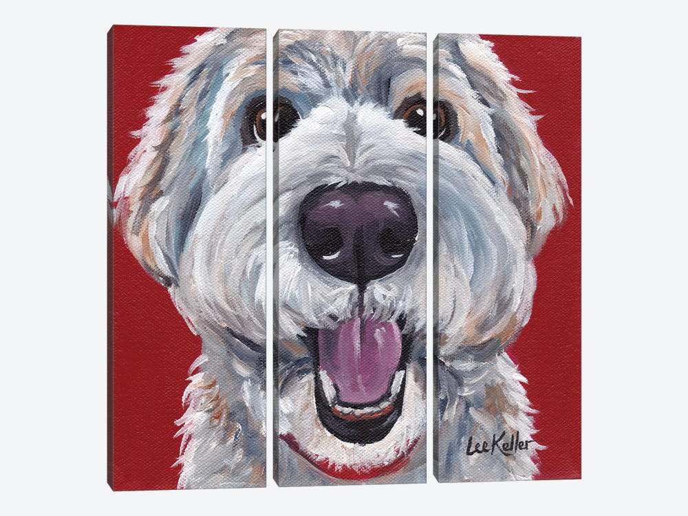 Golden Doodle by Hippie Hound Studios 3-piece Canvas Wall Art
