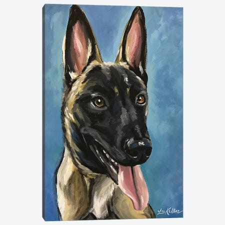 German Shepherd Brody Canvas Print #HHS410} by Hippie Hound Studios Art Print