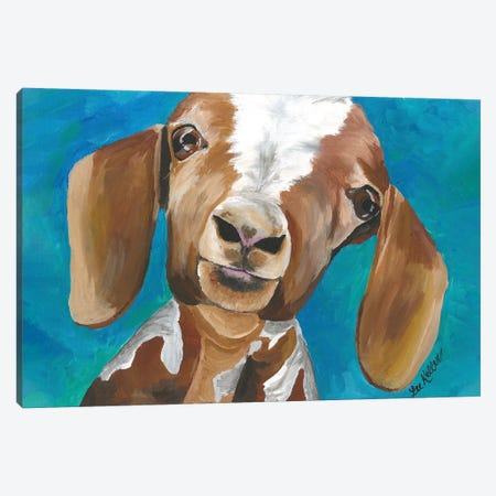 Goat Millie Canvas Print #HHS411} by Hippie Hound Studios Canvas Art Print