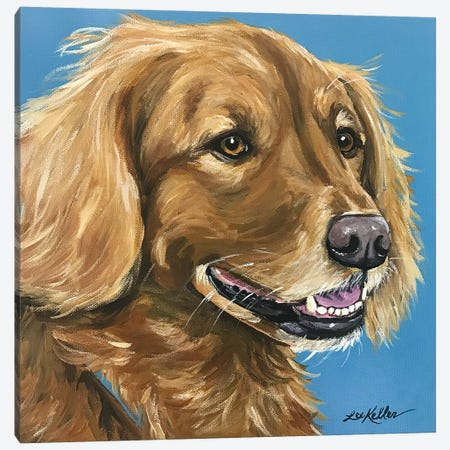 Golden Retriever Canvas Print #HHS414} by Hippie Hound Studios Canvas Artwork