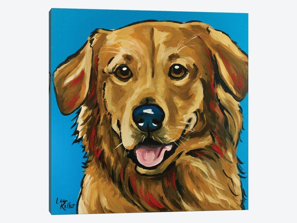 Golden Retriever Expressive Blue by Hippie Hound Studios 1-piece Canvas Art