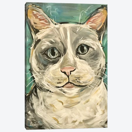 Gray Tabby Cat Canvas Print #HHS424} by Hippie Hound Studios Canvas Print