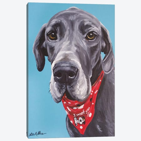 Great Dane Jake Canvas Print #HHS425} by Hippie Hound Studios Art Print