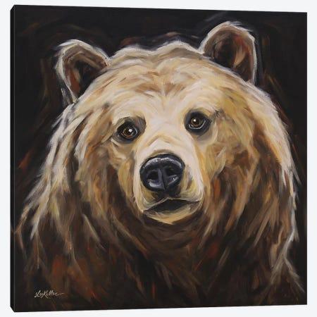 Grizzly Bear 'Honey' Canvas Print #HHS426} by Hippie Hound Studios Art Print