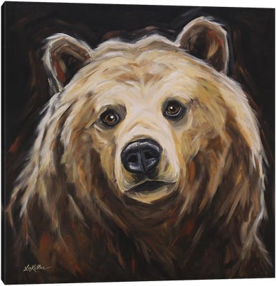 Grizzly Bear 'Honey' Canvas Art Print